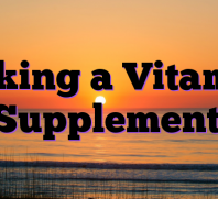 Taking a Vitamin Supplement